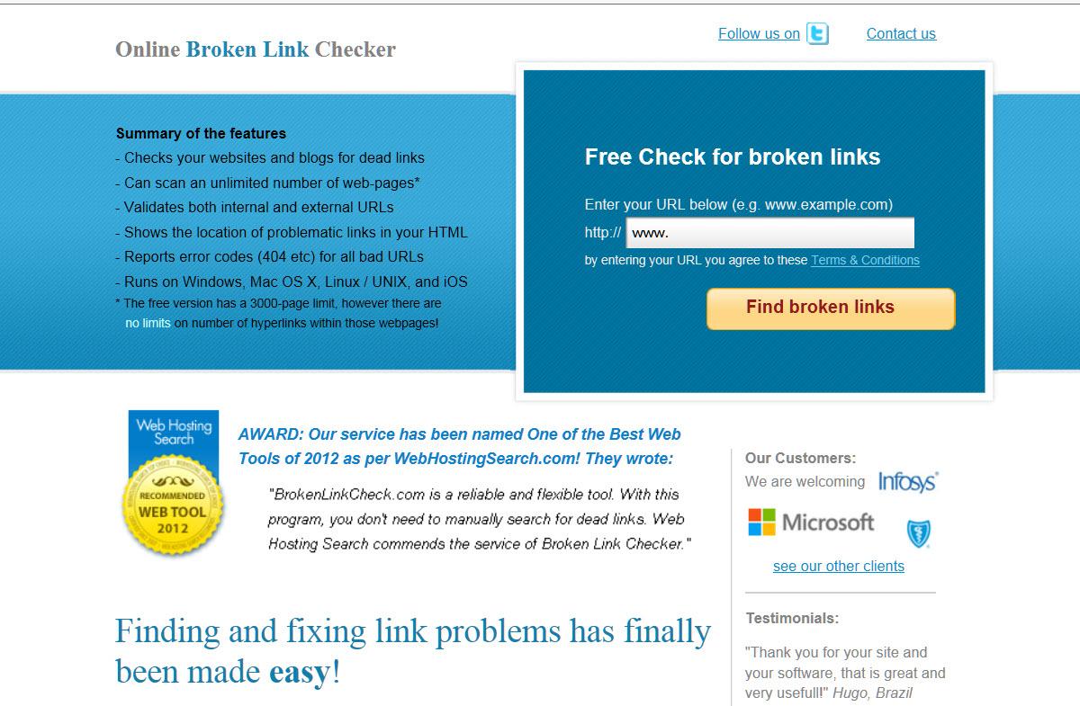 Wordpress Website maken - brokenlink checker