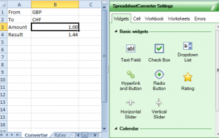 spreadsheet converter - zet excel om in html voor websites