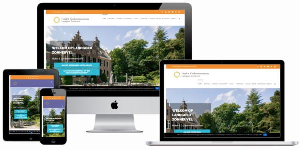 Wordpress Website Hotel Landgoed Zonheuvel Doorn