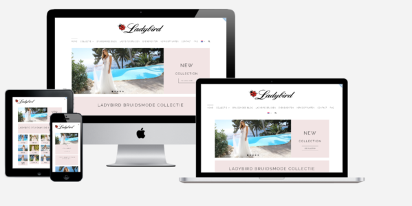 Wordpress Website - Ladybird Bruidsmode