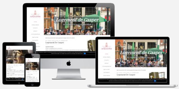 Wordpress Website Hotel Logement De Gaaper Amersfoort