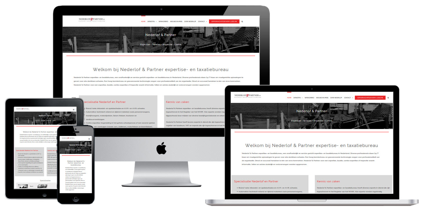 Wordpress Website Taxatie Bureau Nederlof & Partner