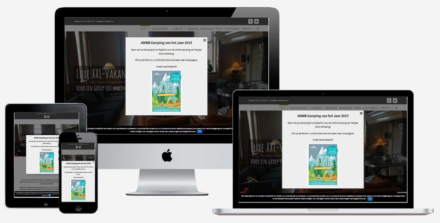 Wordpress Website Camping & Groepsaccommodatie