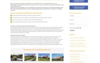 Wordpress website Groepsaccommodatie Weerribben