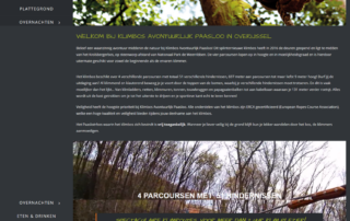 Wordpress website Klimbos Paasloo Overijssel