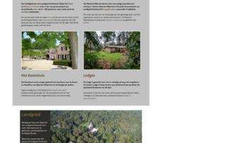 Wordpress Hotel website: Landgoed Zonheuvel Doorn Utrecht
