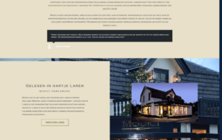Wordpress website damesmode winkel Modici Laren