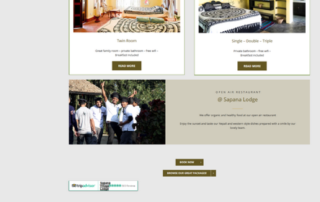 Wordpress website Sapana Lodge Nepal Chitwan