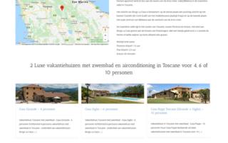 Wordpress website Vakantiehuis Toscane Borgo La Casa