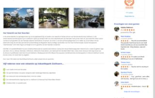 Wordpress website Vakantiepark Giethoorn