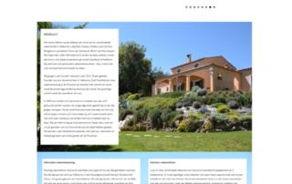 Wordpress website vakantiehuis - Villa Valbonne