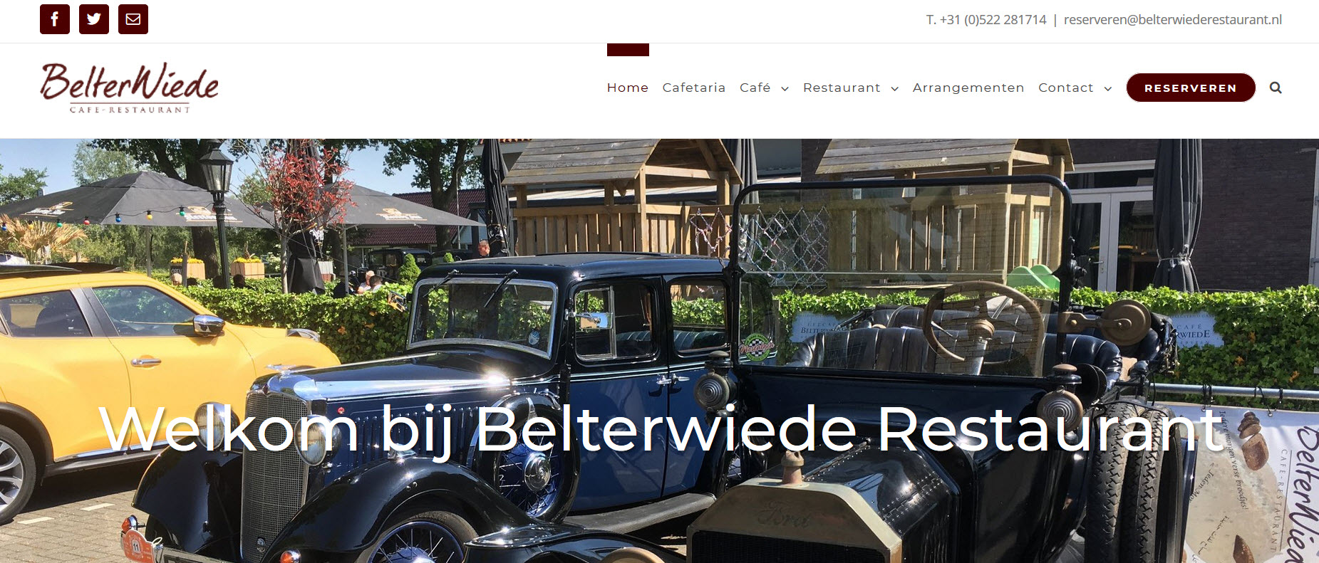 Belterwiede Restaurant - Wordpress Website