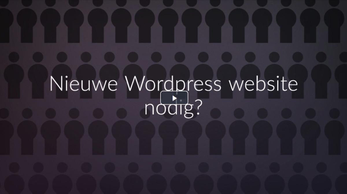 Nieuwe Wordpress Website nodig?