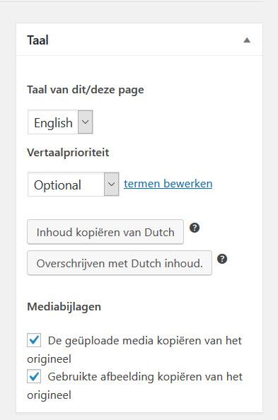 Pagina En Bericht Vertalen Met WPML