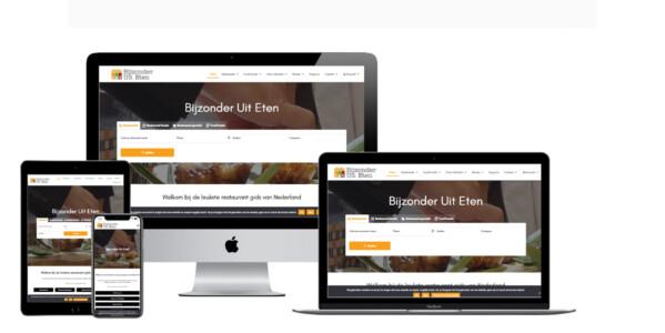 Wordpress website voor Restaurant gids en culinaire agenda Bijzonder Uit Eten
