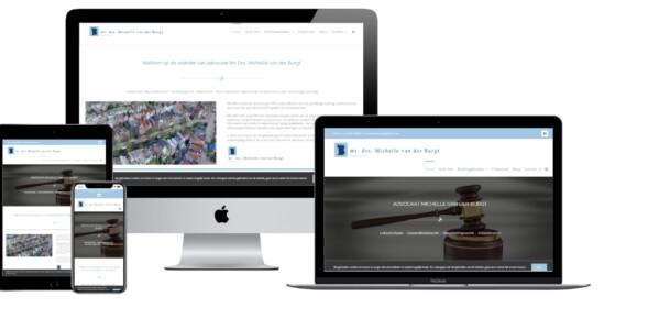 Wordpress website voor Burgt Advocaten Michelle Van Der Burgt