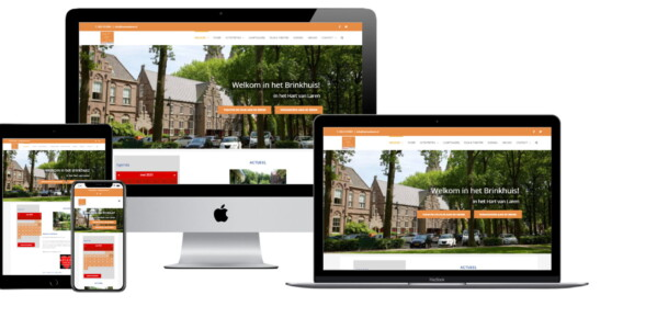 Wordpress website voor Hart Van Laren Brinkhuis Laren Dorpshuis Bibliotheek