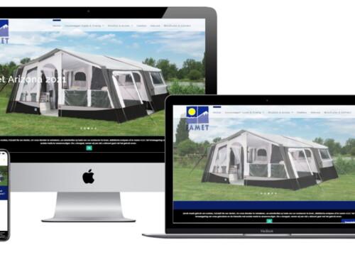 Nieuwe mobiel vriendelijke WordPress website voor Jamet Vouwwagens