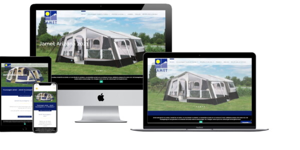 Wordpress website voor Jamet Vouwwagens