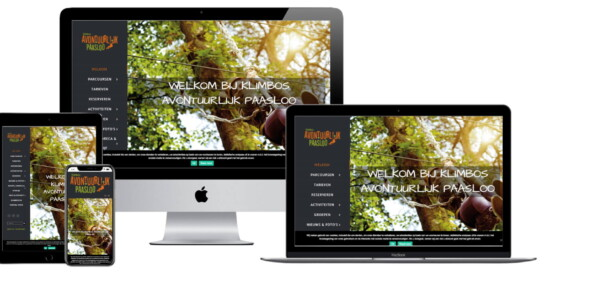 Wordpress website voor Klimbos Overijssel Avontuurlijk Paasloo