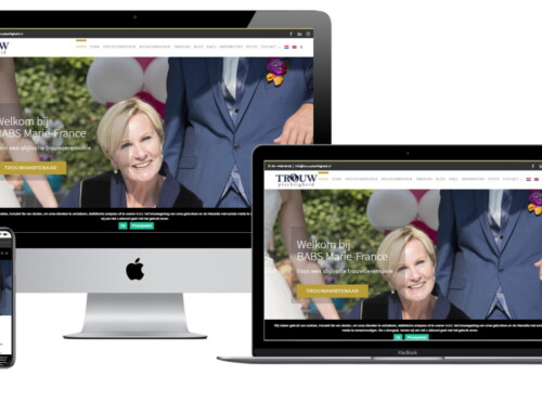 WordPress Website BABS Marie France – Trouwplechtigheid
