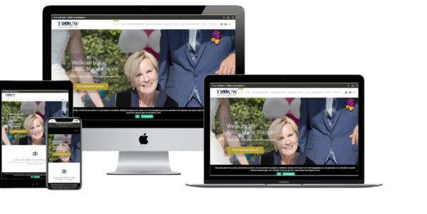Wordpress website voor Trouwplechtigheid Babs Marie France Aarnink