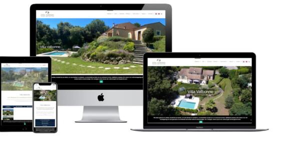 Wordpress website voor Vakantiehuis Valbonne Met Zwembad Villa Valbonne