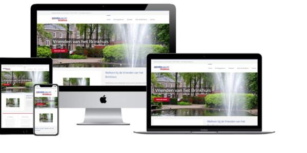Wordpress website voor Vrienden Van Het Brinkhuis