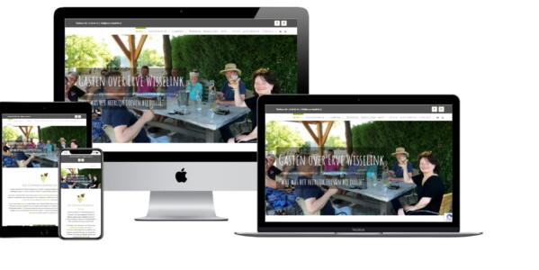 Wordpress website voor Wijndomein Camping En Vakantiehuizen Erve Wisselink Eibergen