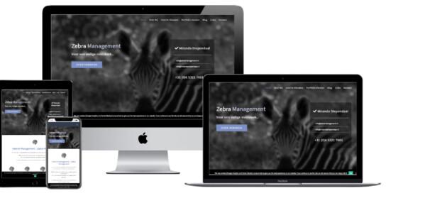 Wordpress website voor Zebra Management Miranda Diependaal