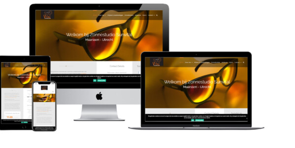 Wordpress website voor Zonnestudio Sun Vital Maarssen