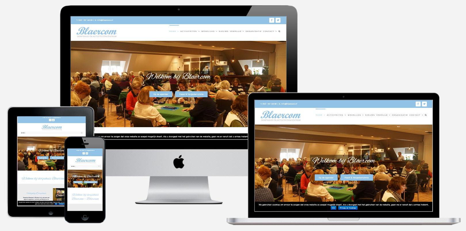 Wordpress Website Dorpshuis Blaercom Blaricum