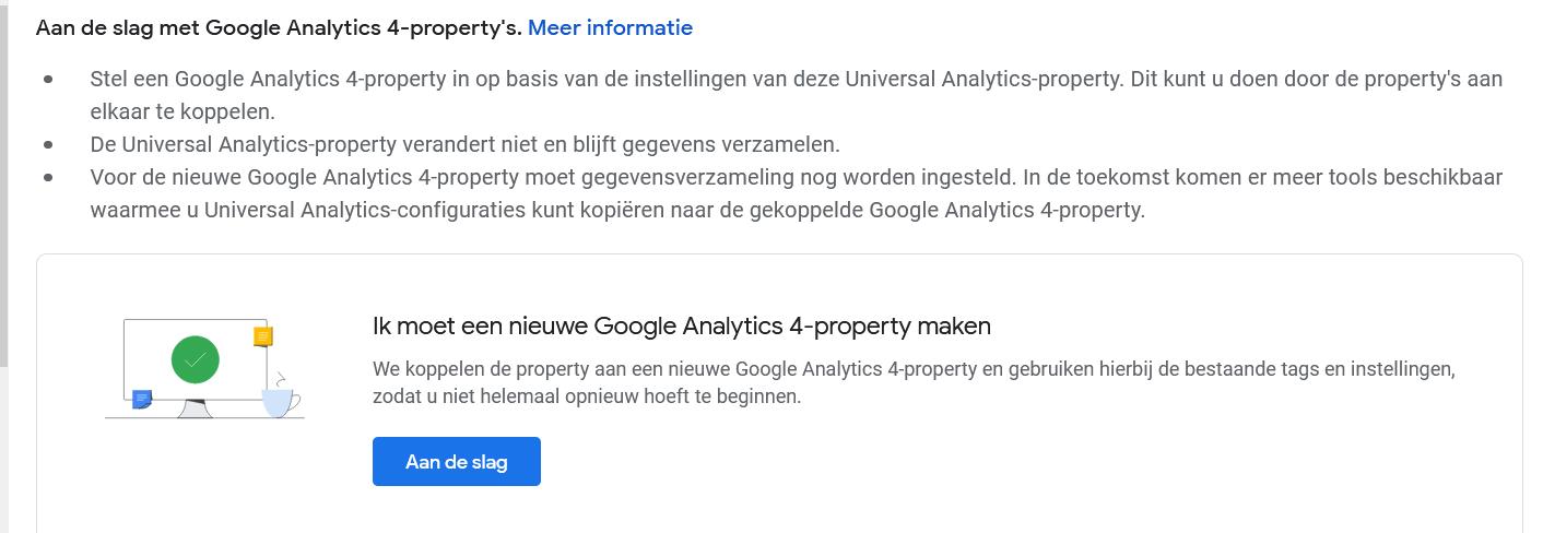 Google analytics GA4 - Stappenplan om over te stappen naar de nieuwe Google Analytics